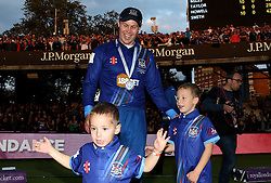 Gloucestershire's Geraint Jones with his Children - Mandatory byline: Robbie Stephenson/JMP - 07966 386802 - 19/09/2015 - Cricket - Lord's Cricket Ground - London, England - Gloucestershire CCC v Surrey CCC - Royal London One-Day Cup Final