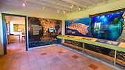 Interpretive display at the visitor center, Santa Cruz Island, Channel Islands National Park, California USA