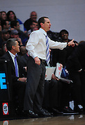November 28, 2011; Moraga, CA, USA; Weber State Wildcats head coach Randy Rahe instructs during the first half of the Shamrock Office Solutions Classic championship game against the Saint Mary's Gaels at McKeon Pavilion.