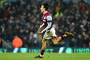 Aston Villa midfielder Jack Grealish (10) scores a goal and celebrates  1-0 during the EFL Sky Bet Championship match between Aston Villa and Cardiff City at Villa Park, Birmingham, England on 10 April 2018. Picture by Dennis Goodwin.