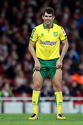 Norwich City's Nelson Oliveira reacting after a shot at goal