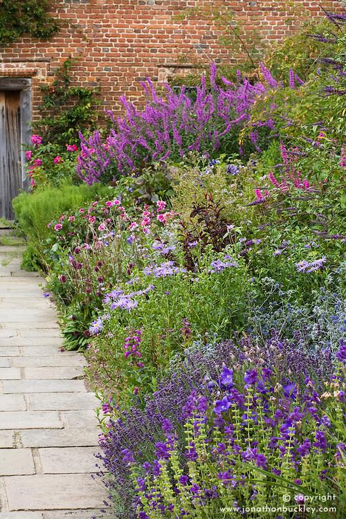 The Purple Border at Sissinghurst Castle Garden