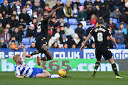 Reading's Paul McShane makes a sliding tackle during the Sky Bet Championship match between Reading and Bolton Wanderers at the Madejski Stadium, Reading, England on 21 November 2015. Photo by Mark Davies.