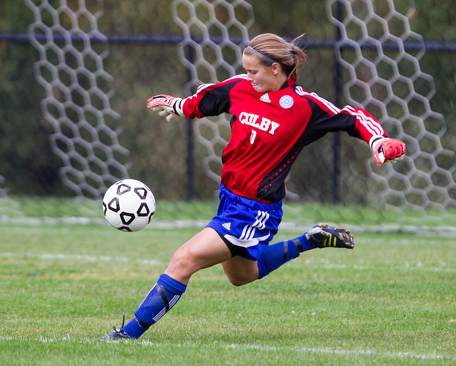 Emily Brook, of Colby College, in an NCAA Division III college soccer game against Middlebury College at Colby College, Thursday Sept. 15, 2012 in Waterville, ME. (Dustin Satloff/Colby College Athletics)