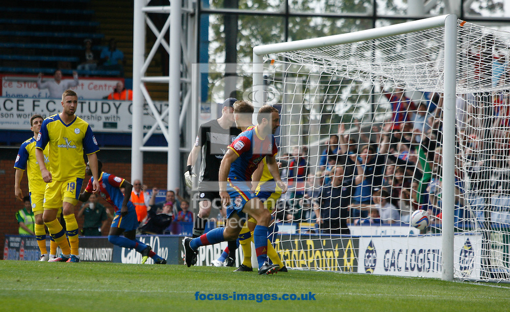 Picture by Daniel Weir/Focus Images Ltd +44 7982 911743.01/09/2012.Glenn Murray of Crystal Palace scores in the 1-0 against Sheffield Wednesday during the npower Championship match at Selhurst Park, London.