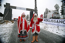 25.11.2011, Kuusamo, FIN, FIS Weltcup Cross Country, SP C, Herren, im Bild Santa Claus with ROWANIEMI WHEN he came to Kuusamo // during Cross Country, SP C, Men at FIS Cross Country Worldcup in Kuusamo, Finnland on 2011/11/25. EXPA Pictures © 2011, PhotoCredit: EXPA/ Newspix/ Jerzy Kleszcz..***** ATTENTION - for AUT, SLO, CRO, SRB, SUI and SWE only *****
