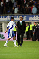12.09.2007, Olympic Stadium, Helsinki, Finland..UEFA European Championship 2008.Group A Qualifying Match Finland v Poland.Coach Roy Hodgson & Teemu Tainio (Finland) after the match.©Juha Tamminen.....ARK:k