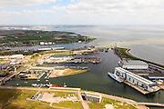 Nederland, Zeeland, Walcheren, 09-05-2013; Vlissingen. Voormalige  marinewerf (Marine Etablissement), nu Damen Schelde Naval Shipbuilding.<br /> Flushing, former navy yard.<br /> luchtfoto (toeslag op standard tarieven)<br /> aerial photo (additional fee required)<br /> copyright foto/photo Siebe Swart