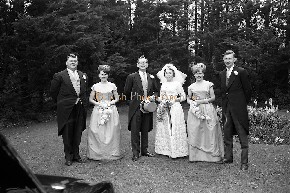 19/09/1963<br /> 09/19/1963<br /> 19 September 1963<br /> Wedding of Colm A. O'Rahilly, A.C.A., &quot;Collin&quot;, Newtownpark Avenue, Blackrock, Dublin and Miss Mary Corcoran, 29 Prussia Street, North Circular Road, Dublin at the Church of the Holy Family, Aughrim Street, Stoneybatter, Dublin and reception at the Spa Hotel, Lucan, Co. Dublin.