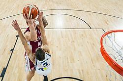Janis Timma of Latvia vs Goran Dragic of Slovenia during basketball match between National Teams of Slovenia and Latvia at Day 13 in Round of 16 of the FIBA EuroBasket 2017 at Sinan Erdem Dome in Istanbul, Turkey on September 12, 2017. Photo by Vid Ponikvar / Sportida