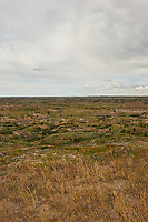 Painted Canyon Overlook Panorama. Theodore Roosevelt National Park. Image 4 of 6 taken with a Nikon D3x camera and 24 mm f/1.4 lens (ISO 100, 24 mm, f/16, 1/50 sec). Raw image processed with Capture One Pro and composite generated using AutoPano Giga Pro.