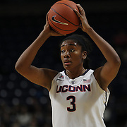 Morgan Tuck, UConn, in action during the UConn Vs DePaul, NCAA Women's College basketball game at Webster Bank Arena, Bridgeport, Connecticut, USA. 19th December 2014