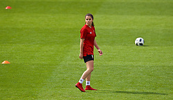 NEWPORT, WALES - Thursday, August 30, 2018: Wales' Ffion Morgan during a training session at Rodney Parade ahead of the final FIFA Women's World Cup 2019 Qualifying Round Group 1 match against England. (Pic by David Rawcliffe/Propaganda)