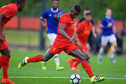 KIRKBY, ENGLAND - Saturday, September 24, 2016: Liverpool's Toni Gomes in action against Everton during the Under-18 FA Premier League match at the Kirkby Academy. (Pic by David Rawcliffe/Propaganda)