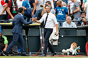 Feyenoord coach Giovanni van Bronckhorst (L) and Excelsior coach Adrie Poldervaart after the Dutch football Eredivisie match between Feyenoord and Excelsior at De Kuip Stadium in Rotterdam, on August 19th, 2018 - Photo Stanley Gontha / Pro Shots / ProSportsImages / DPPI
