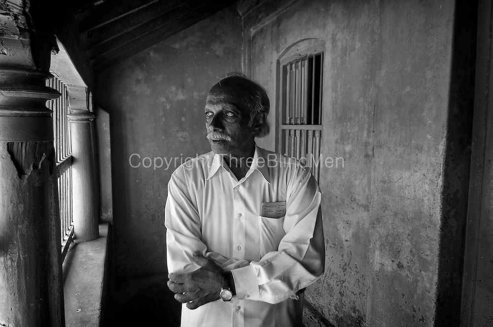 Mr. P. Raju at home. Porto Novo..Mr. Raju worked for many years in the Merchant Navy. He is rather annoyed that he has a pension of just $50 a month. He is 71 years old..January 2008