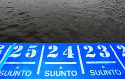 Triathlon: Hamburg, 17.07.2011, Startblock, Start, Startnummern, Startnummer, Nummer, Zahl, Zahlen, Numerierung,