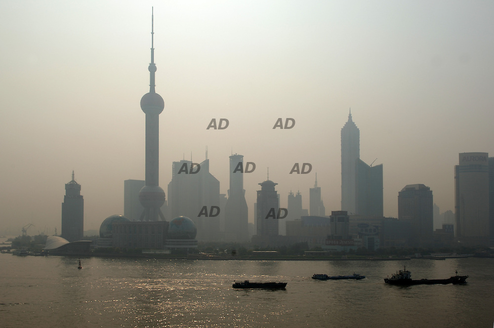 *** Local Caption *** Pudong district from the Bund.