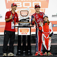 February 25, 2017 - Daytona Beach, Florida, USA: Ryan Reed (16) wins the PowerShares QQQ 300 at Daytona International Speedway in Daytona Beach, Florida.