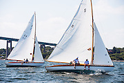 Surprise and Swallow, S Class, sailing in the Museum of Yachting Classic Yacht Regatta, day one.