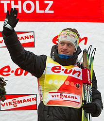 20.01.2011, Südtirol Arena, Antholz, ITA, IBU Biathlon Worldcup, Antholz, Sprint Men, im Bild Welcup Führende Tarjei Boe (NOR) // Tarjei Boe (NOR) overall First during IBU Biathlon World Cup in Antholz, Italy, EXPA Pictures © 2011, PhotoCredit: EXPA/ J. Feichter