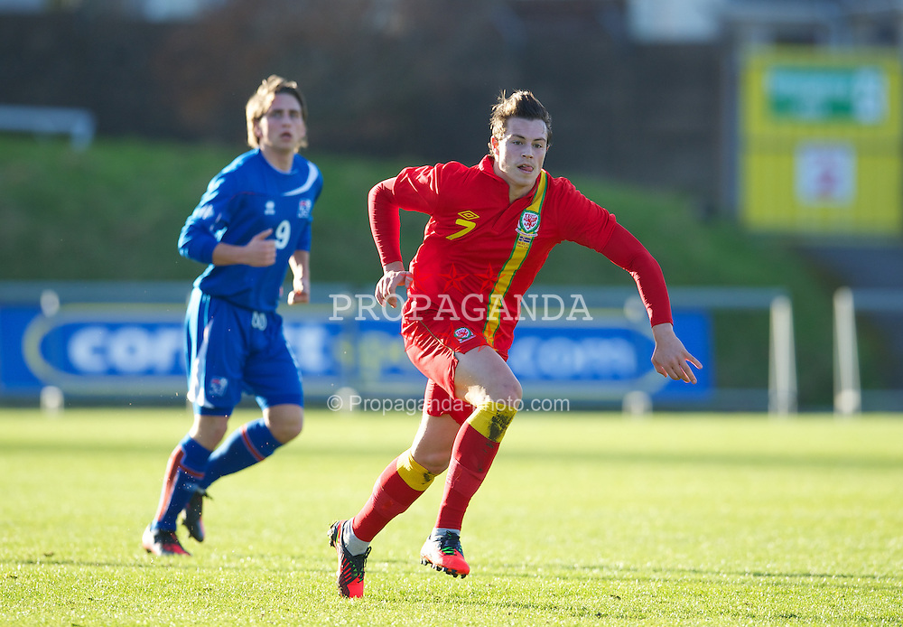LLANELLI, WALES - Wednesday, February 6, 2013: Wales' Billy Bodin in action against Iceland during an International Friendly Under-21 match at Stebonheath Park. (Pic by David Rawcliffe/Propaganda)