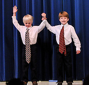 "10/26/09  -  Atlanta, Ga :  Students at Sagamore Hills Elementary School including Blake Rhinehart and Sean Hatten in ""Mr. Kerplunk"" perform their skits during the 2009 talent show featuring dance, music, comedy and other performances for the annual Showcase of Stars on Monday, October 26, 2009. Director Nancy Briggs, and assistant directors Joe Scivicque and Teresa Libbey helped produce more than 30 acts.     David Tulis         dtulis@gmail.com    ©David Tulis 2009"