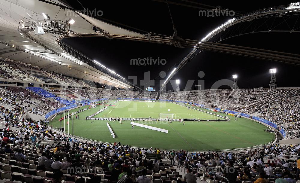 FUSSBALL   INTERNATIONAL   Testspiel  in  Doha  17.11.2010 Argentinien - Brasilien Innenansicht Khalifa Stadion