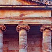 Columns on the Scotish National Gallery in Edinburgh, Scotland.