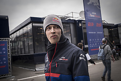 February 20, 2019 - Montmelo, Barcelona, Spain - Daniil Kvyat of Toro Rosso F1 Team   in the Paddock area  at the Circuit de Catalunya in Montmelo (Barcelona province) during the pre-season testing session. (Credit Image: © Jordi Boixareu/ZUMA Wire)