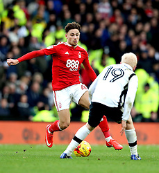 Matty Cash of Nottingham Forest takes on Will Hughes of Derby County - Mandatory by-line: Robbie Stephenson/JMP - 11/12/2016 - FOOTBALL - iPro Stadium - Derby, England - Derby County v Nottingham Forest - Sky Bet Championship