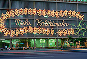 Mele Kalikimaka sign, Honolulu, Oahu, Hawaii<br />