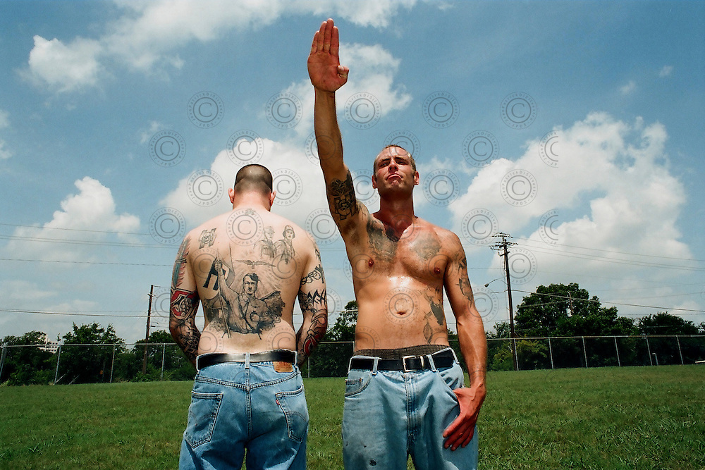 Members of the extreme radical right Blood and Honour USA .