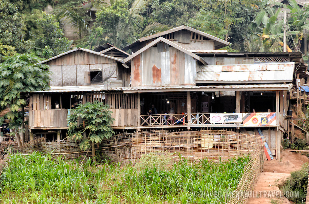 A bar, restaurant on the waterfront of the Nam Ou in Nong Khiaw in northern Laos.