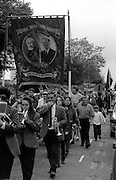 Hatfield Main Branch banner. 1994 Yorkshire Miners Gala. Doncaster.