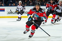 KELOWNA, BC - DECEMBER 18: Trevor Wong #8 of the Kelowna Rockets skates against the Vancouver Giants  at Prospera Place on December 18, 2019 in Kelowna, Canada. (Photo by Marissa Baecker/Shoot the Breeze)