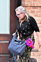 August 8, 2016 - New York, New York, United States - Actress Carrie Fisher takes her dog for a walk in Tribeca on August 8 2016 in New York City  (Credit Image: © Curtis Means/Ace Pictures via ZUMA Press)