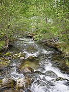 clear water stream Fjaerland, Norway
