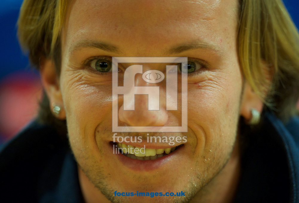 Ivan Rakitic during the Barcelona press conference at the Emirates Stadium, prior to their Champions League match against Arsenal tomorrow. London, England.<br /> <br /> Picture by Alan Stanford/Focus Images Ltd +44 7915 056117<br /> 22/02/2016