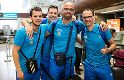 Luka Zabot, Aleksander Peric, Domen Starc and Damjan Sebjan of Slovenian deaf team before departure to 23rd Summer Deaflympics in Samsun, Turkey, on July 14, 2017 at Airport Joze Pucnik, Brnik, Slovenia. Photo by Vid Ponikvar / Sportida