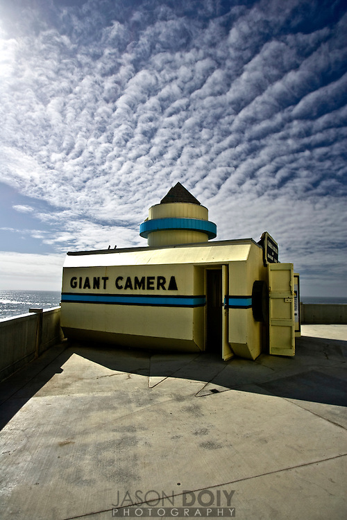 A room sized Camera Obscura at the Cliff House overlooking the ocean..Photo by Jason Doiy.10-5-08...