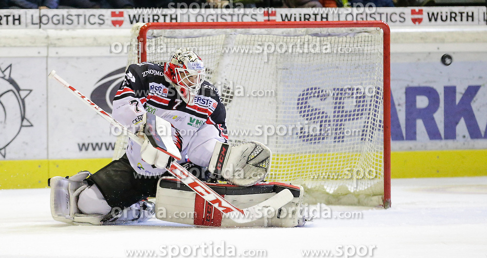 28.02.2016, Messestadion, Dornbirn, AUT, EBEL, Dornbirner Eishockey Club vs HC Orli Znojmo, Viertelfinale, 2. Spiel, im Bild Patrik Nechvatal, (HC Orli Znojmo, #07)// during the Erste Bank Icehockey League 2nd quarterfinal match between Dornbirner Eishockey Club and HC Orli Znojmo at the Messestadion in Dornbirn, Austria on 2016/02/28, EXPA Pictures © 2016, PhotoCredit: EXPA/ Peter Rinderer