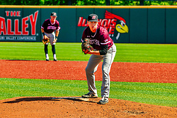 20 May 2019:  Mason Hiser. Missouri Valley Conference Baseball Tournament - Southern Illinois Salukis v Illinois State Redbirds at Duffy Bass Field in Normal IL<br /> <br /> #MVCSPORTS