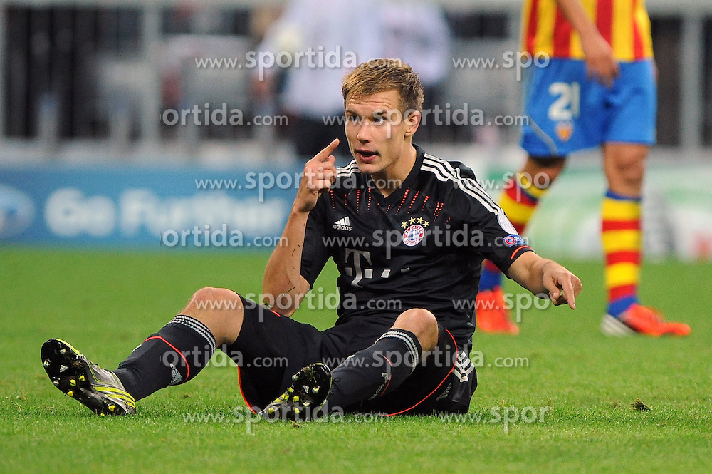 19.09.2012, Allianz Arena, Muenchen, GER, UEFA Champions League, FC Bayern Muenchen vs FC Valencia, Gruppe F, im Bild Holger BADSTUBER (FC Bayern Muenchen) // during the UEFA Champions League group F match between FC Bayern Munich and Valencia CF at the Allianz Arena, Munich, Germany on 2012/09/19. EXPA Pictures © 2012, PhotoCredit: EXPA/ Eibner/ Wolfgang Stuetzle..***** ATTENTION - OUT OF GER *****