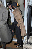 Beckham's leaving a party held at the residence of Anna Wintour