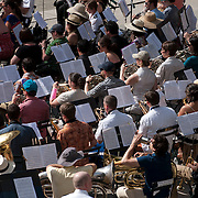 June 21, 2014 - New York, NY : <br /> The city was flooded with music on Saturday as Make Music New York brought more than 1,300 free concerts to the city's streets and parks. The annual festival's program included a performance by the Berlioz Symphony, lead by conductor Jeff W. Ball (not pictured) of the Brooklyn Wind Symphony, in Bryant Park on Saturday afternoon.<br /> CREDIT: Karsten Moran for The New York Times