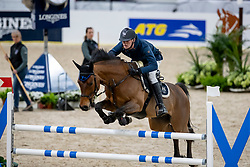KENDER Kullo (EST), Artas<br /> Göteborg - Gothenburg Horse Show 2019 <br /> Longines FEI Jumping World Cup™ Final<br /> Training Session<br /> Warm Up Springen / Showjumping<br /> Longines FEI Jumping World Cup™ Final and FEI Dressage World Cup™ Final<br /> 03. April 2019<br /> © www.sportfotos-lafrentz.de/Stefan Lafrentz