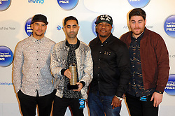 Mercury Prize. <br /> Rudimental attends the Barclaycard Mercury Prize at The Roundhouse, London, United Kingdom. Wednesday, 30th October 2013. Picture by Chris Joseph / i-Images