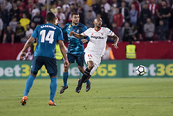 May 9, 2018 - Seville, Spain - STEVEN N'ZONZI of Sevilla (R) vies for the ball during the La Liga soccer match between Sevilla FC and Real Madrid at Sanchez Pizjuan Stadium (Credit Image: © Daniel Gonzalez Acuna via ZUMA Wire)