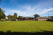 Wadebridge bowls club, one of the projects supported by the money raised from FITS at WREN <br />  community energy. Wadebridge, Cornwall. UK
